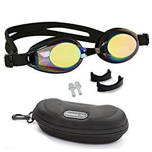 Swimming Goggle for Children 4 to 12 Years Age Comfortable Nose Bridges for Junior Swimmer Clear Lens Fog Resistant Kids Swim Goggles Ideal For Competition Non Toxic Adjustable Silicone - Swim Best Googles