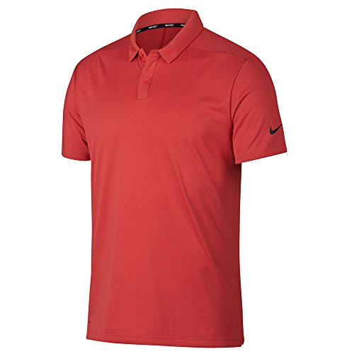 - NIKE Men's Breathe Textured Golf Polo-Tropical Pink-Large
