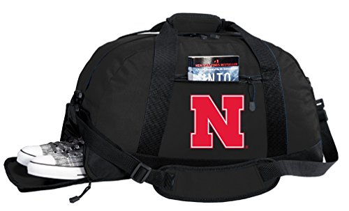 Broad Bay NCAA University of Nebraska Duffel Bag - Nebraska Huskers Gym Bags w/Shoe Pocket