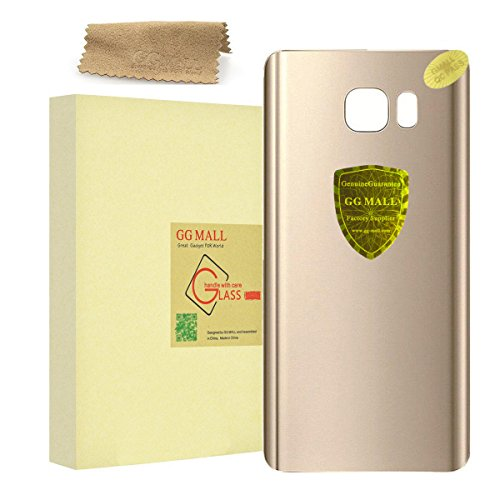 GG MALL Back Glass Cover Battery Door Housing For Samsung Galaxy Note 5 SM-N920 A/T/V/P/W8/R4/F with Adhesive + Cleaning cloth (Gold)