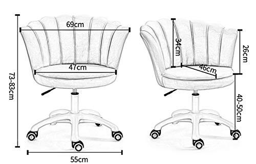LYJBD skrivbordsstolar med hjul, hemmakontorsstol, tjock sittdyna för verkställande, formgivning, spel eller kontor