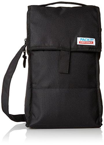 PackIt Freezable Double Bottle Wine Bag, Black