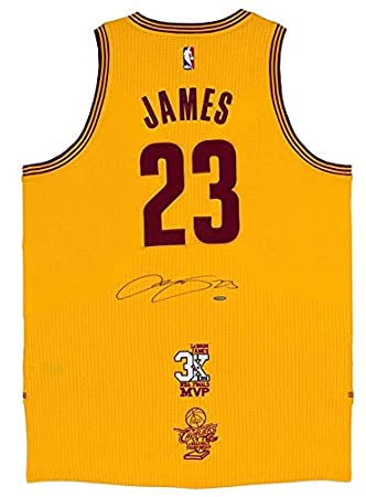 promo code for amazon lebron james autographed3x mvp 16 finals patch  cavaliers gold jersey uda sports 882d6c081