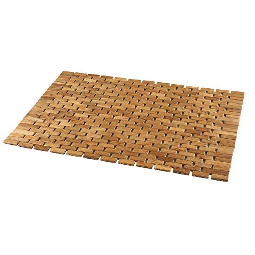 Conair Home Teak Spa Mat, Roll-Up or Lay Flat ()