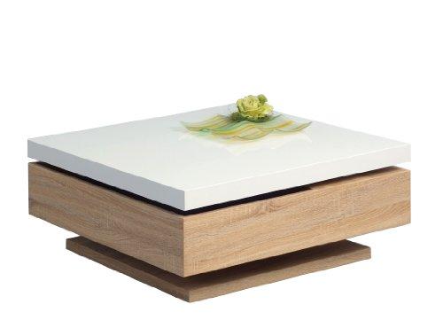 Couchtisch eiche weiß  HomeTrends4You 228542 Couchtisch, 75 x 34 x 75 cm, Dekor Sonoma ...