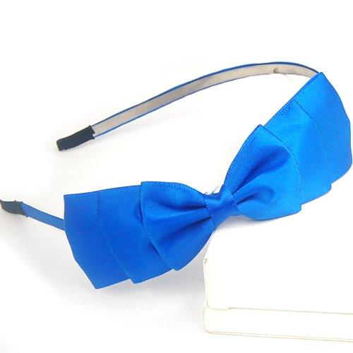 Veroda Stainless Steel Satin Classy Gossip Girl Ribbon Bow Headband Hair Band (Gossip Girl Satin)
