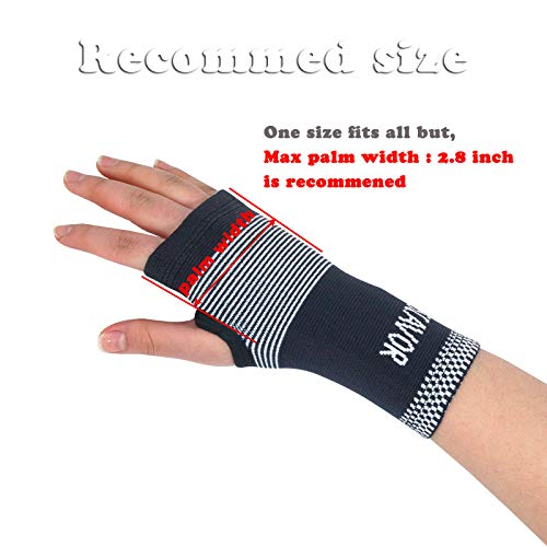 d5fd84ca37 Carpal Tunnel Wrist Brace Pair for Women Men - Compression Wrist Support  Sleeve for Carpal Tunnel