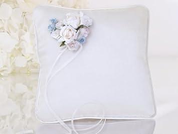 Ringkissen rosen weiß Hochzeit  Hochzeitsring Traukissen Hochzeitskissen