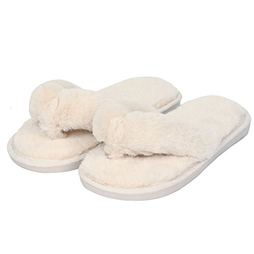 3005a13085ae cheap Womens Slippers Cozy Short Plush Lining Thong Furry Slippers House Office  Shoes