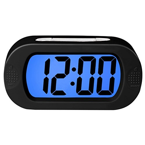ZHPUAT Colorful Light Digital Alarm Clock with Snooze, Simple Setting,...