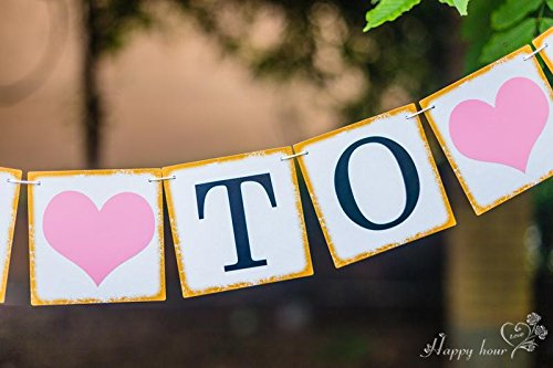 BRIDE TO BE Banner for Wedding Bridal Shower and Bachelorette Party Decorations and Photo Prop
