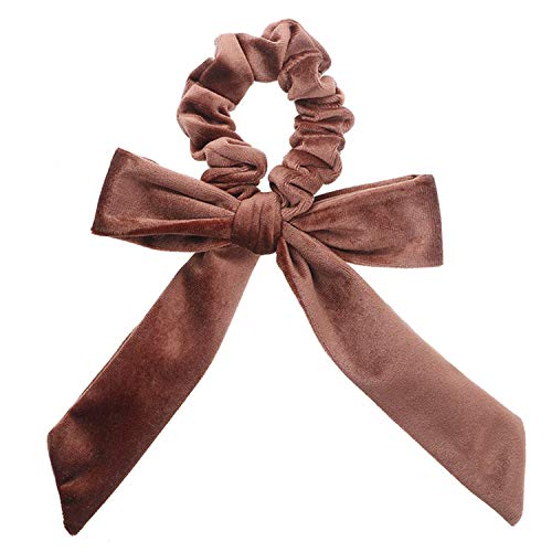 Peppers Scrunchie (Cute Girl Hair Rope Velvet Scrunchies Bowknot Elastic Hair Bands For Women Bow Ties Ponytail Holder Accessorie)