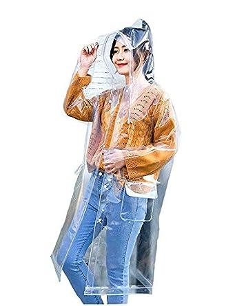 1b4b2f639 Romano Women's Transparent Raincoat Hooded Waterproof Reusable in 4 ...