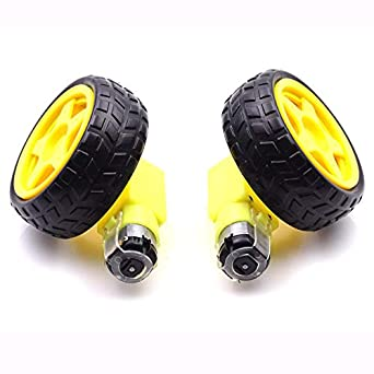 Kaifani 4Lot/Paquete Deseleración DC Motor + Ruedas de Apoyo Smart Coche Chasis, Moto/Robot Ruedas para arduino: Amazon.es: Amazon.es