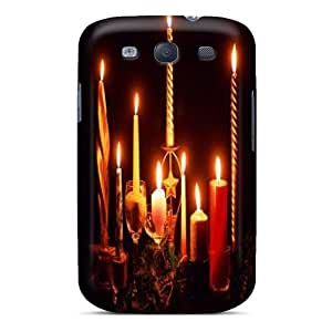 Premium QojaWBo7720URqtW Case With Scratch-resistant/ Candles Case Cover For Galaxy S3