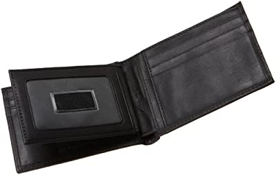 Calvin Klein Men's Leather Bifold Wallet with Key Fob