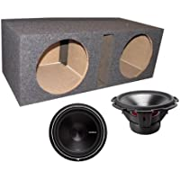 2) ROCKFORD FOSGATE P3D4-15 15 1200 Watt 4-Ohm Car Audio Subwoofers + Sub Box