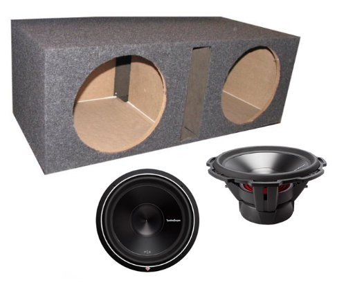 "2) ROCKFORD FOSGATE P3D4-15 15"" 1200 Watt 4-Ohm Car Audio Subwoofers + Sub Box"