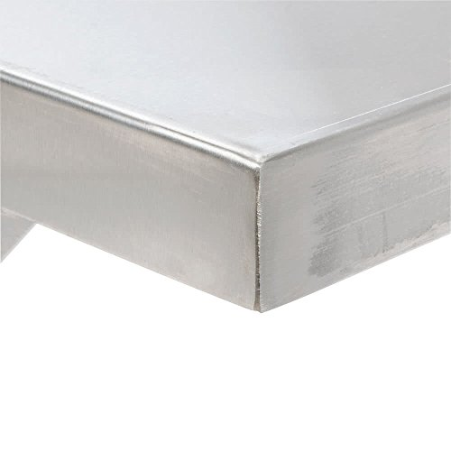 Stainless Steel Commercial Wall Shelf ( 12 W x 48L )18 Ga. with Mounting Brackets NSF APPROVED ROYAL INDUSTRIES by Royal Industries (Image #2)