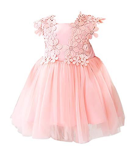 Meisjesjurk voor pasgeborenen, verjaardag, trouwjurk, kanten jurk, doop, honderddagen, party, prinsessenrok, zomer