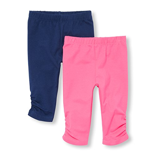 The Children's Place Baby Girls 2 Pack Basic Leggings, Pink 92860 92860, 9-12MOS