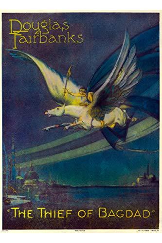The Thief of Bagdad Douglas Fairbanks, 1924; Silent Film Poster Reprint