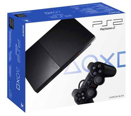 (Sony PlayStation 2 Slimline Charcoal Black Console)