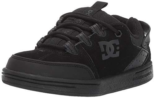 DC Boys' Syntax Skate Shoe, Black, 3 M M US Little Kid (Dc Shoes Kids)