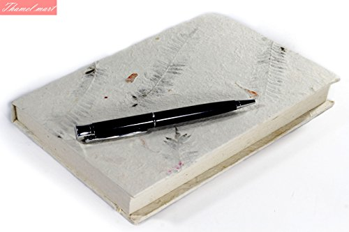- Nepali Notebook of Handmade Lokta Paper with hand crafted cover. Made in Nepal. (21. x 15 cm) (NPB15)