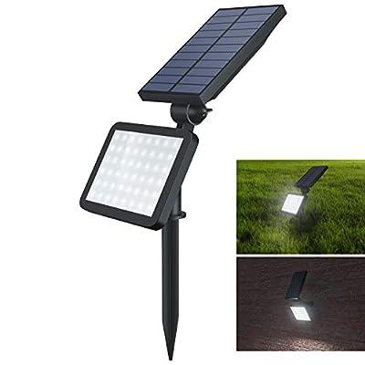 OUSFOT Solar Spot Lights Outdoor, 48 Led Spotlight 2-in-1 Adjustable Waterproof Solar Landscape Security Lighting Dark Sensing Auto On/Off