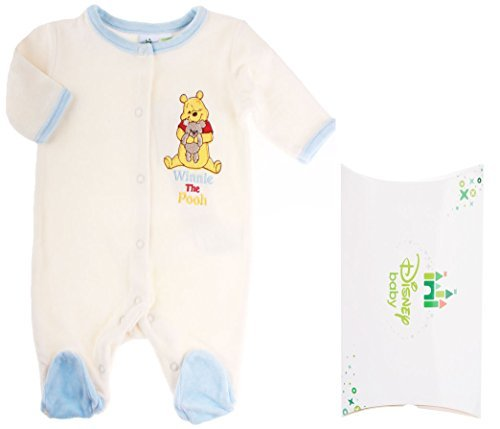 Amazon.com : pyjama avec boite cadeau b?b? gar?on Winnie lourson ?cru/bleu 0mois by Winnie lourson : Baby