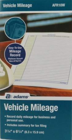 Adams Convenient Vehicle Mileage Journal AFR10W ()