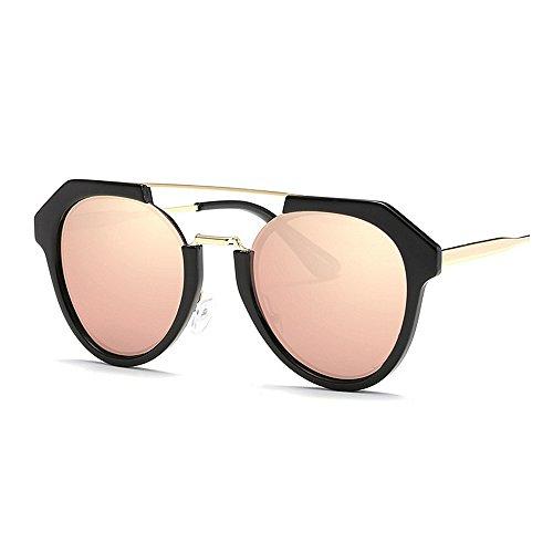 Protection lunettes pour lunettes plastique unisexes et conduite rétro Unique les de Rétro Lunettes UV bordées en lunettes polarisées soleil soleil de pour voy soleil de les femmes hommes Rose soleil de de 75anCwq