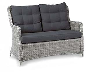 'Beauty Scouts Jardín Couch Set, Lounge Couch Set Bali de 3piezas cálida de Grey