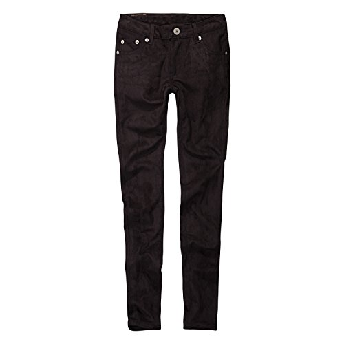 Levi's Big Girls' 710 Super Skinny Fit Faux Suede Jeans, Jet Black, 14