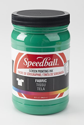 Speedball 004604 Fabric Screen Printing Ink, 32 Fl. oz, (Green Printing)
