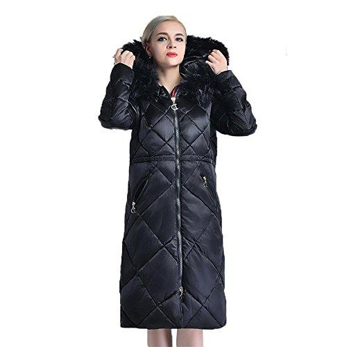Giacche Pelliccia E Da Green Incappucciato Inverno In Elegante Collo Cappotto Donna Cotone Antivento Con Lungo Cerniera W4wwqYO7f
