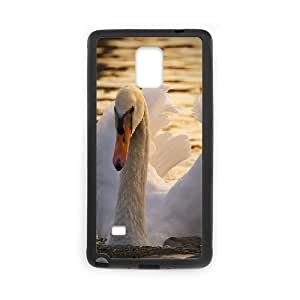 Beautiful Swan Samsung Galaxy Note 4 Cases for Teen Girls, Samsung Galaxy Note 4 Case Case [Black]
