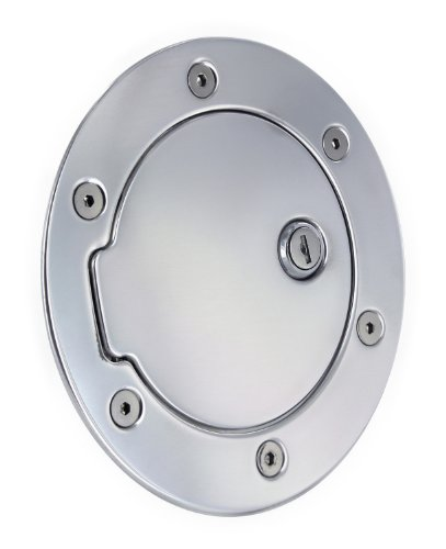 - All Sales 6041PL Polished Billet Aluminum Locking Fuel Door