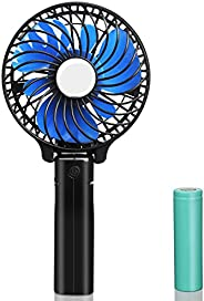 Portable Handheld Fan,USB Rechargeable Hand Fan with 2200mAh Battery Operated, Mini Hand Held Fans 3 Speeds Ad