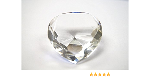 2.25/'/' // 60 mm Round Crystal Diamond Paperweight Decor Clear