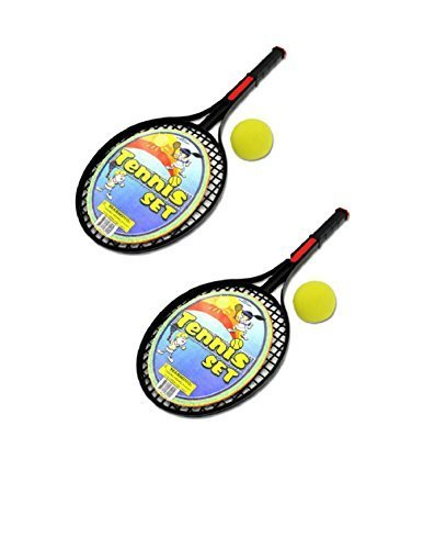 Kole Imports Tennis Racket Two Piece Active Play Set WithTwo Foam Balls