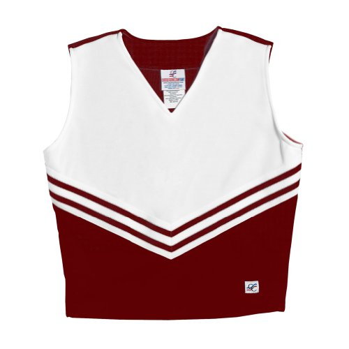Shirt Maroon Axl (V-Neck Cheerleading Shell, AXL, Light Maroon)