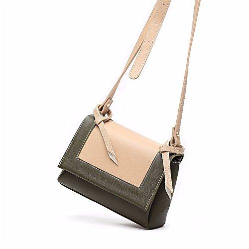Couleur Olive Quotidien Bag Asdflina pour Convient Magnétique Messenger Simple Vert Un à Sac PU Hit Usage Rétro Portable Carré bandoulière 6nqXwAH4