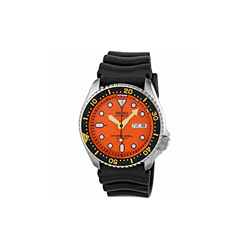 Seiko-Diver-Orange-Dial-Automatic-Mens-Watch-SKX011J1