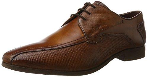 Bugatti 312295021100, Zapatos de Cordones Derby para Hombre Marrón (Cognac)