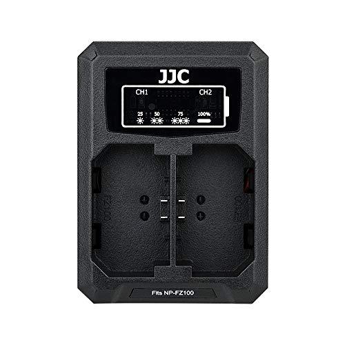 JJC NP-FZ100 Battery Charger USB Dual Slot for Sony A7 III A7III A7R III A7RIII A9 Cameras