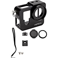 XSD MOEDL Gopro hero 4 Case Aluminum Alloy Protective housing case Shell + filter len for Gopro Go Pro hero4 camera accessories Black