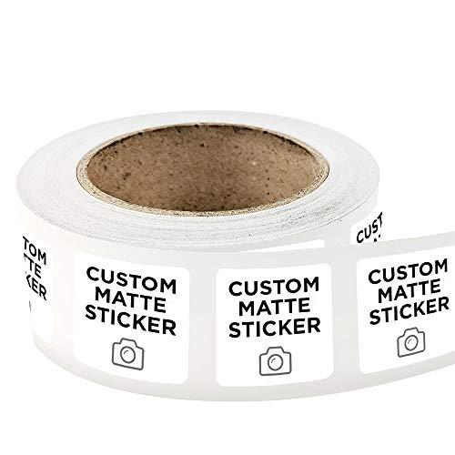 500 Square Custom Matte Roll Label Stickers 3