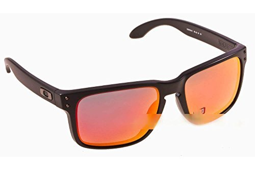 Oakley Holbrook Sunglasses Matte Black / Ruby Iridium Polarized & Carekit - Holbrook Red Oakley